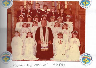 I Komunia dzieci 1986r.